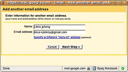 Add an email address